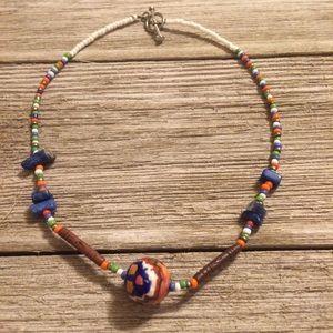 Authentic Cherokee Indian seas bead choker 16 in